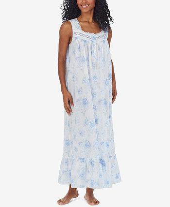Cotton Lace-Trim Ballet Nightgown Eileen West