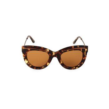 Солнцезащитные очки «кошачий глаз» с гравировкой 49 мм Bottega Veneta