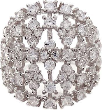 Серебряное кольцо с широким набором CZ SAVVY CIE JEWELS