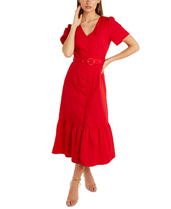 Макси-платье с хлопковым поясом Quiz