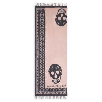 Oversize Skull Wool Scarf Alexander McQueen