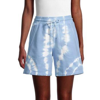 Хлопковые шорты с завязками Nicole Miller