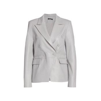 Кожаный двубортный пиджак Catherine LAMARQUE