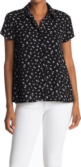 Блуза с короткими рукавами и воротником Everleigh
