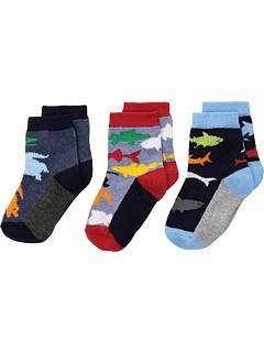 Экипаж Водных Животных в 3-х пакетах (Младенец / Малыш / Маленький ребенок) Jefferies Socks