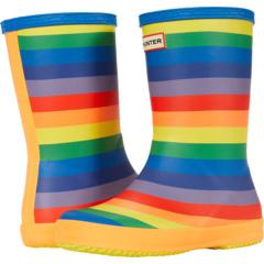 Первоначально классические ботинки Wellington Rainbow с принтом (малыш / маленький ребенок) Hunter Kids
