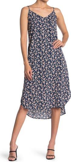 Merlyn Adjustable Shoulder Strap Floral Print Cami Dress Velvet Heart