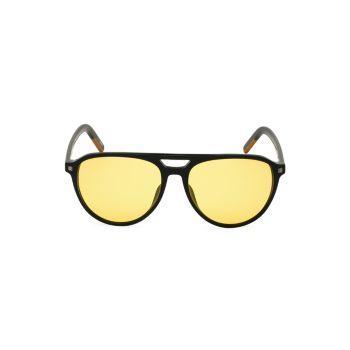 Круглые поляризованные солнцезащитные очки-авиаторы 57 мм Zegna