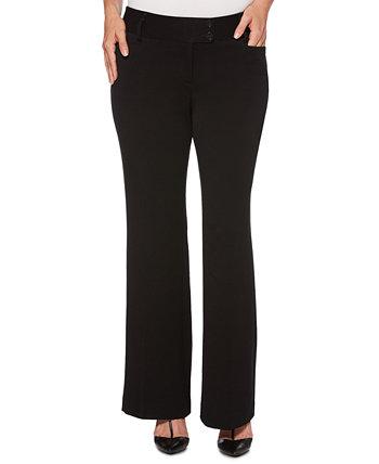 Женские габардиновые брюки из габардина с пышными формами Rafaella