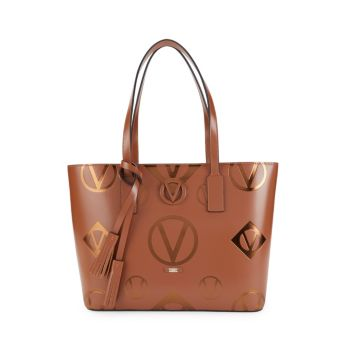 Кожаная сумка-тоут с логотипом Soho Valentino By Mario Valentino
