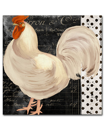 Холст Color Bakery 'White Rooster Cafe II' - 18 дюймов x 2 дюйма x 18 дюймов Trademark Global