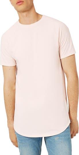 Удлиненная футболка с боковыми молниями TOPMAN