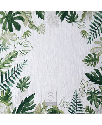 Одеяло с тропическими листьями Little Unicorn