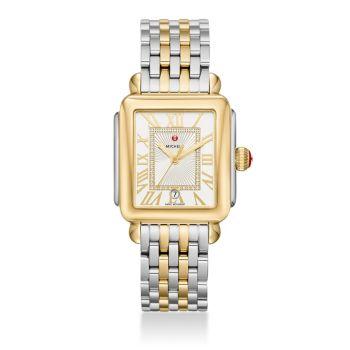 Deco Madison Diamond & amp; Двухцветные часы с браслетом из нержавеющей стали Michele