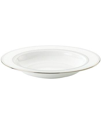 Тарелка для супа с платиновым ободом Library Lane Kate Spade New York
