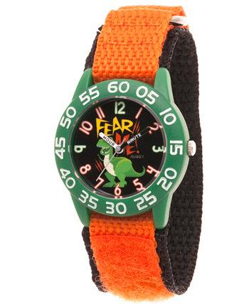 Disney Toy Story 4 Rex Оранжевый Пластик Время учитель Ремешок для часов 32мм Ewatchfactory