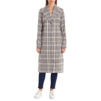 Мужское пальто с принтом в клетку Avec Les Filles