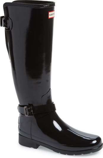 Refined Knee High Rain Boot Hunter