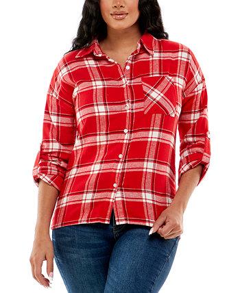 Фланелевая рубашка с подкладкой из шерпы для юниоров Derek Heart