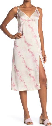 Платье-комбинация с V-образным вырезом и тонкими бретельками Socialite
