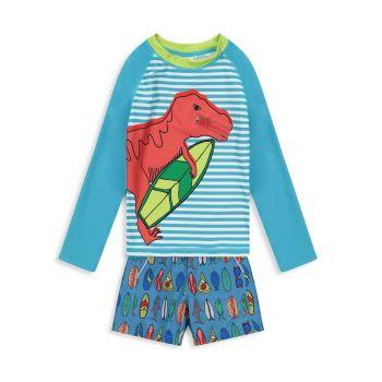 Двухкомпонентный рашгард Dino для мальчика и amp; Комплект шорт Andy & Evan