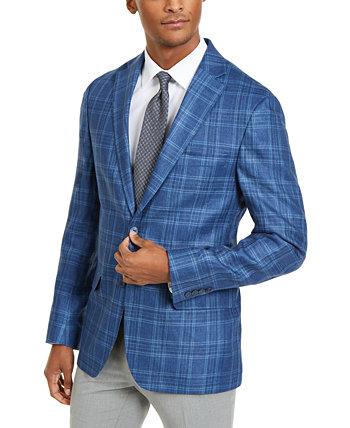 Мужское классическое спортивное пальто в клетку Ultraflex Stretch Blue Ralph Lauren