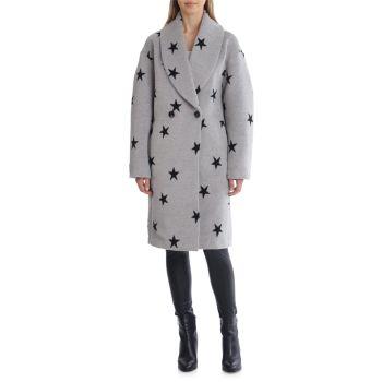 Двубортное пальто с принтом звезд Avec Les Filles