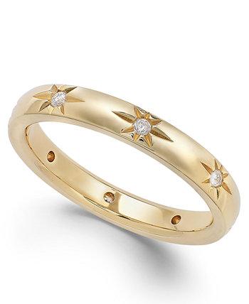 Обручальное кольцо Star by Diamond Star из золота 18 карат (1/8 карата), создано для Macy's Marchesa