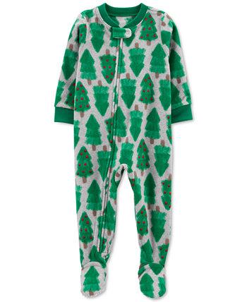 Флисовый комбинезон с принтом деревьев для маленьких мальчиков или девочек Carter's
