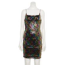 Juniors' Almost Famous Cami Sequin Mini Dress Almost Famous