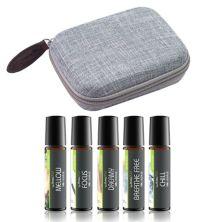 Шариковый дорожный набор Aroma2Go Essential Oil с пятью чистыми эфирными маслами и дорожным жестким футляром из конопли - Ocean Aroma2Go