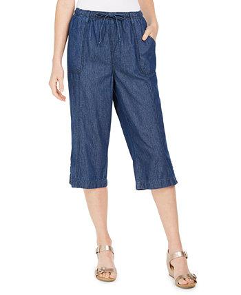 Джинсовые джинсы Capri Pull-On, созданные для Macy's Karen Scott
