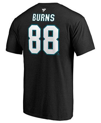 Мужская футболка Brent Burns San Jose Sharks Authentic Stack Name & Number Majestic