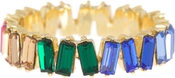 Разноцветное кольцо Baguette Eternity Covet