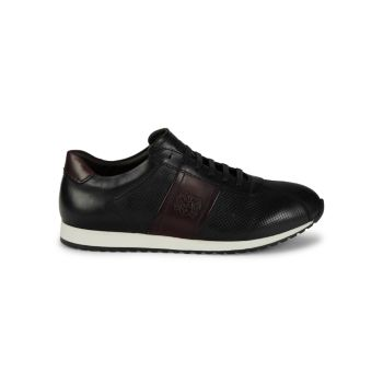 Evo Perforated Leather Sneakers Bruno Magli