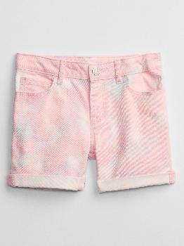 Детские джинсовые шорты миди с принтом тай-дай и Washwell ™ Gap Factory