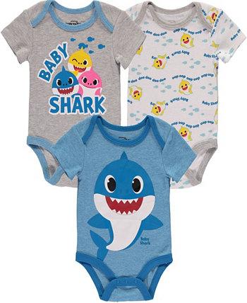 Боди для мальчиков Baby Shark, набор из 3 шт. HAPPY THREADS