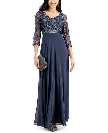 Платье с V-образным вырезом и украшением J Kara