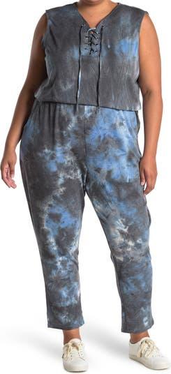 Lace-Up Jumpsuit BLUE ORCHID