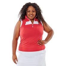 Рубашка-поло большого размера без рукавов Nancy Lopez Zone Nancy Lopez