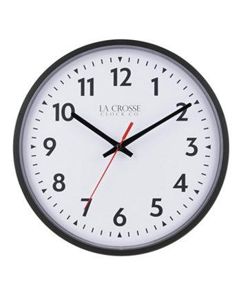 La Crosse Clock 404-2636 13 Inch Info-Tech Коммерческие аналоговые кварцевые настенные часы, черный La Crosse Technology