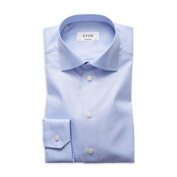 Классическая рубашка современного кроя в диагональную полоску Eton