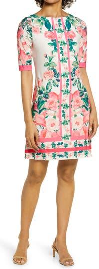 Платье-футляр с пограничным принтом Eliza J