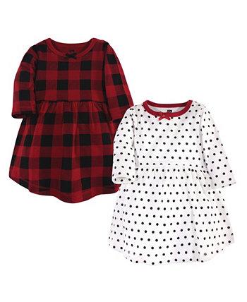 Классические праздничные платья для девочек, упаковка из 2 штук Hudson Baby