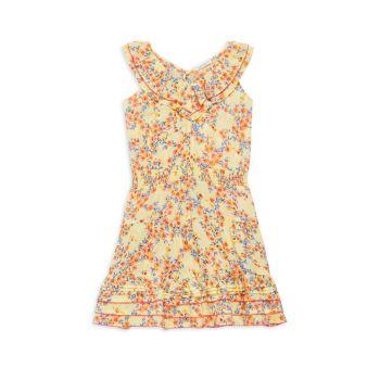 Платье Della для маленьких девочек и девочек с рюшами Poupette St Barth