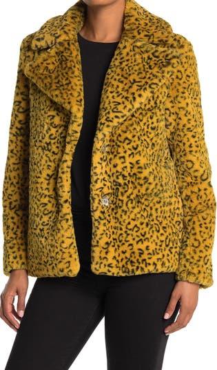 Куртка из искусственного меха с животным принтом KENDALL AND KYLIE