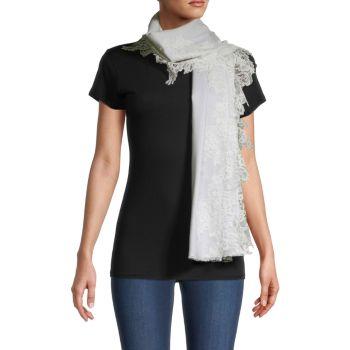 Isabella с кружевной отделкой из шелка и шёлка. Шерстяной шарф Bindya
