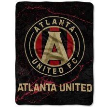 "The Northwest Black Atlanta United FC 46"" x 60"" Concrete Raschel Throw Blanket The Northwest"