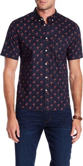 Рубашка классического кроя с принтом Flamingo Party PUBLIC ART