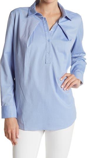 Рубашка оверсайз с частичной планкой FRNCH